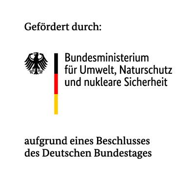 Gefördert durch das Bundesministerium für Umwelt, Naturschutz und nukleare Sicherheit aufgrund eines Beschlusses des Deutschen Bundestages